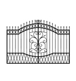 forged gate isolated on white background vector image vector image