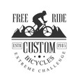 freeride custom bicycles extreme challenge vintage vector image vector image