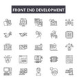 front end development line icons signs vector image vector image