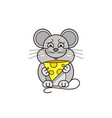 funny and cute mouse vector image vector image