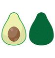 funny avocado vector image vector image