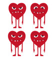 heart smile face icon design color flat vector image vector image