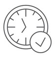 in-time thin line icon watch and countdown clock vector image vector image