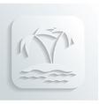 Island icon vector image vector image