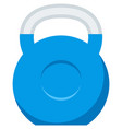 kettlebell icon weight gym dumbbell vector image