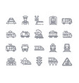 large set 25 transport icons with trains vector image