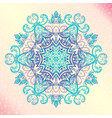 mandala floral vintage round amulet tatoo vector image vector image