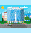 office building exterior commercial building vector image vector image