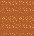 orange background in white dots polka seamless vector image vector image