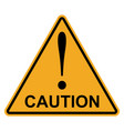 orange yellow triangle exclamation mark caution vector image vector image