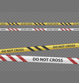 police line or yellow caution tape template vector image