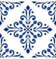 porcelain decorative pattern vector image vector image