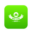 quality hat icon green vector image vector image