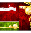 red christmas background set vector image vector image