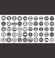 retro vintage badges and labels mega collection vector image vector image