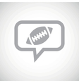 Rugby grey message icon vector image vector image