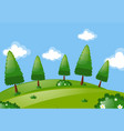scene with trees in park vector image vector image
