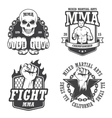 set four mma emblems vector image