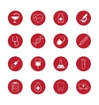 set medical icons and research vector image
