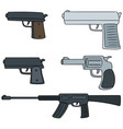 set of gun vector image