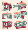 set retro promotional labels vector image vector image