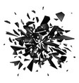 shards broken glass on white background