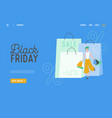 shopping black friday online sale vector image vector image