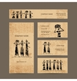 Sketch of egypt women with jugs Business cards vector image vector image