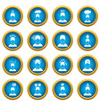 stress icons blue circle set vector image vector image