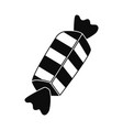 striped bonbon icon simple style vector image vector image
