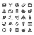 summer pictograph icons sea beach umbrella pool vector image vector image