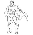 superhero watch line art vector image vector image