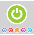 Switch power flat icon badge vector image vector image