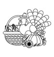 thanksgiving day cartoon vector image vector image