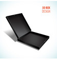 thin box with open lid vector image vector image
