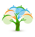 tree unity family people logo vector image vector image