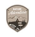 vintage camping adventure logo emblem vector image vector image