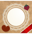 Vintage doily on the old paper background vector image vector image