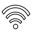 Wifi wireless or internet icon design vector image