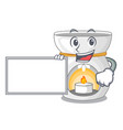 with board aroma lamp in a cartoon versions vector image vector image