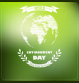 world environment day of shape typography vector image vector image