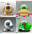 Digital robo set painter delivery vector image