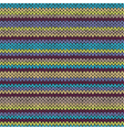 Knit Seamless Multicolor Striped Pattern vector image