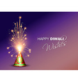 diwali crackers background vector image