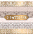 a collection of seamless wedding patterns vector image