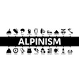 alpinism minimal infographic banner vector image vector image