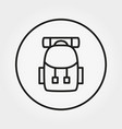 backpack for hiking icon editable thin vector image vector image