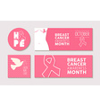 Banners and labels set for breast cancer awareness vector image vector image