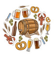 beer round template vector image vector image