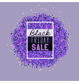 Big Black Friday Sale purple glitter vector image vector image